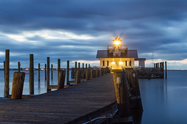 Photograph - Walk To Roanoke Marshes Lighthouse by Liza Eckardt