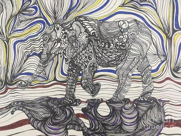 Drawing - Walk With Me by Mastiff Studios