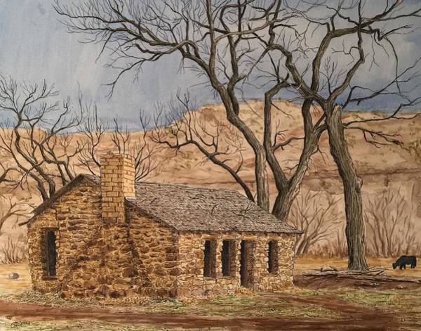 Painting - Walker Homestead In Escalante Canyon by Rick Adleman
