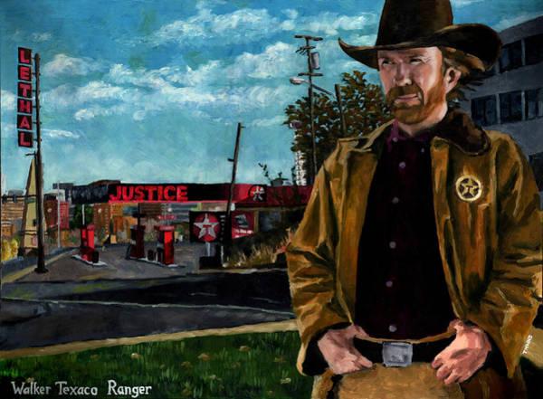 Justice Painting - Walker Texaco Ranger by Thomas Weeks