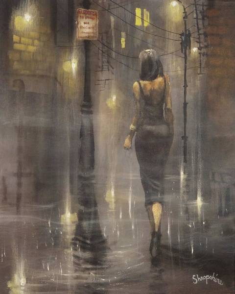 Wall Art - Painting - Walking After Midnight by Tom Shropshire