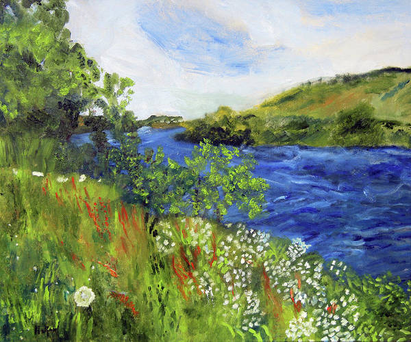 Painting - Walking Along The Moselle by Michael Helfen