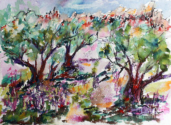 Painting - Walking Among The Olive Trees by Ginette Callaway