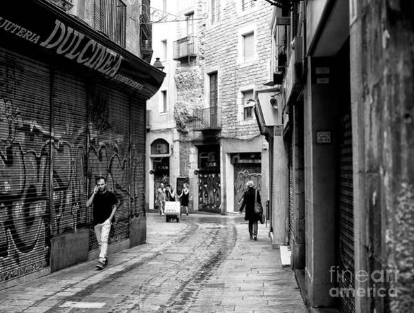Photograph - Walking And Talking In The Gothic Quarter by John Rizzuto