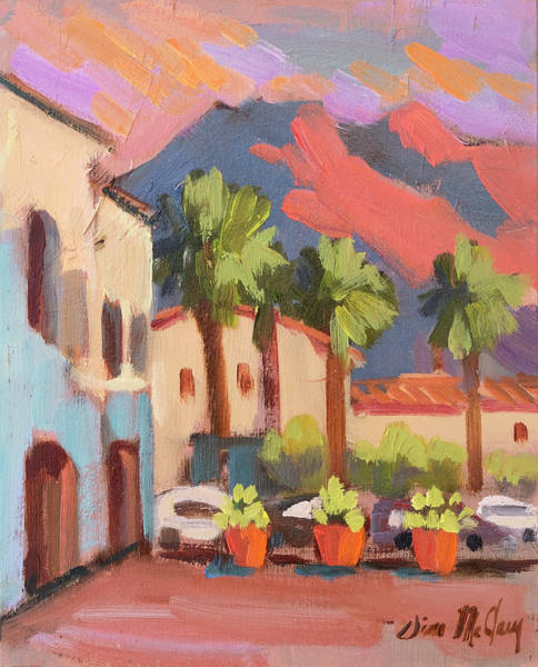 La Quinta Wall Art - Painting - Walking Area In Old Town La Quinta by Diane McClary