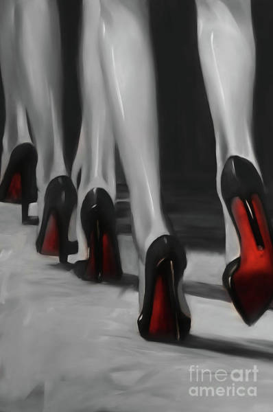 Crossed Legs Painting - Walking Beautiful  by Gull G