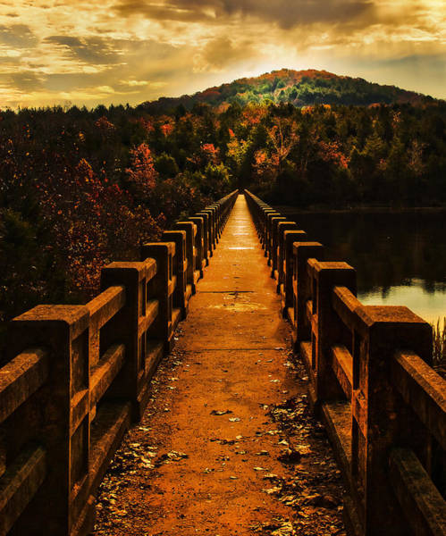 Eureka Springs Photograph - Walking Bridge by Tim Hayes
