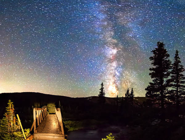 Roosevelt National Forest Photograph - Walking Bridge To The Milky Way by James BO Insogna