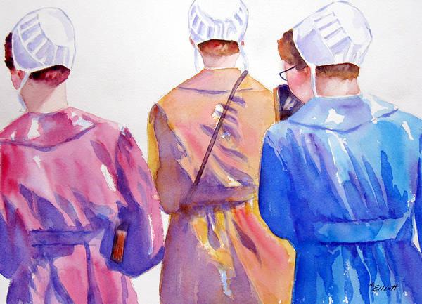 Amish Wall Art - Painting - Walking By Faith by Marsha Elliott