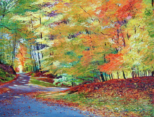 Painting - Walking In Autumn by David Lloyd Glover