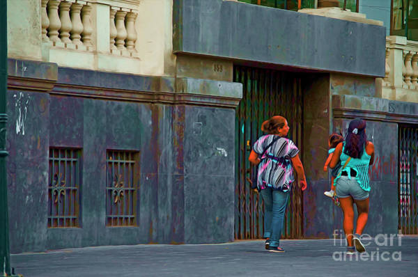 Wall Art - Photograph - Walking In Lima, Peru by Mary Machare