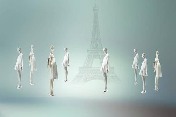 Dummy Digital Art - Walking In Paris by larisa Fedotova