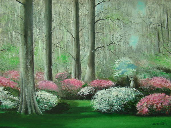 Augusta Masters Painting - Walking In The Garden by Charles Roy Smith