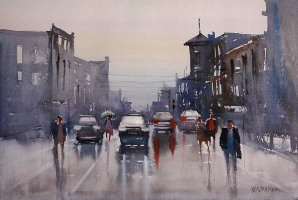 Wall Art - Painting - Walking In The Rain by Ryan Radke