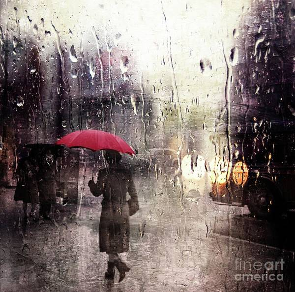 Photograph - Walking In The Rain Somewhere by Carlos Diaz