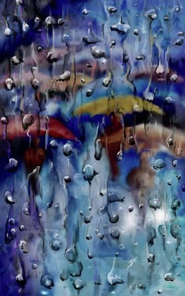 Digital Art - Walking In The Rainfall by Darren Cannell