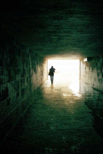 Subterranean Photograph - Walking Into The Light by Carlos Caetano