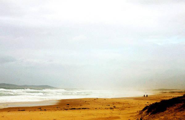 Newcastle Digital Art - Walking On Redhead Beach by Susan Vineyard