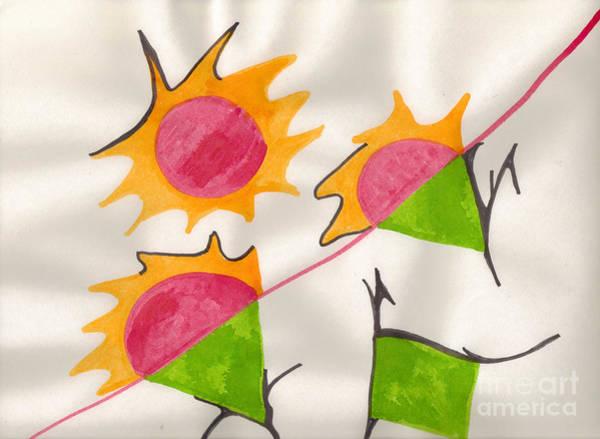 Mixed Media - Walking On Sunshine by Mary Mikawoz