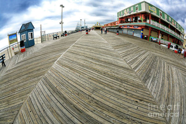 Down The Shore Photograph - Walking The Boardwalk At Seaside Heights by John Rizzuto