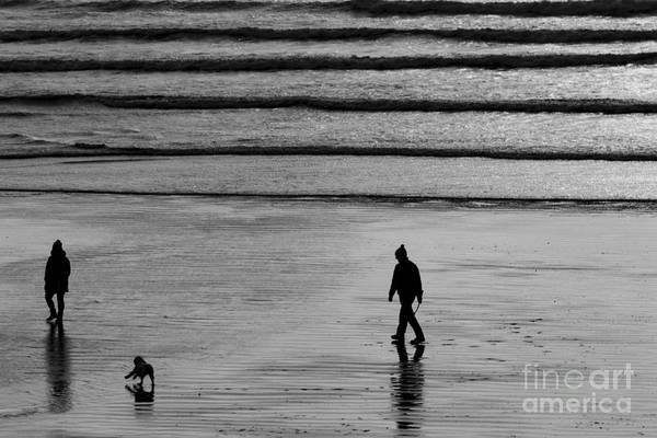 Photograph - Walking The Dog At Marazion by Brian Roscorla