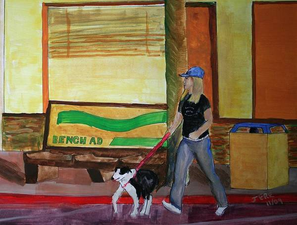 Painting - Walking The Dog by Jeremy McKay
