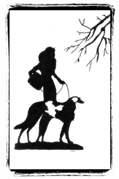 Drawing - Walking The Dog by Patricia Montgomery