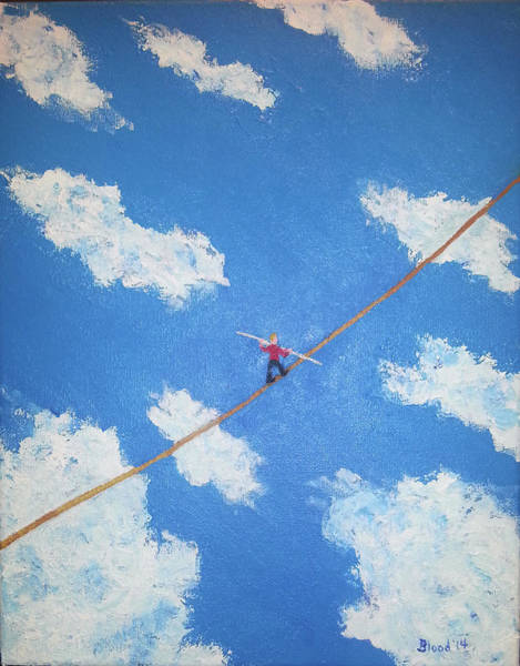 Painting - Walking The Line by Thomas Blood