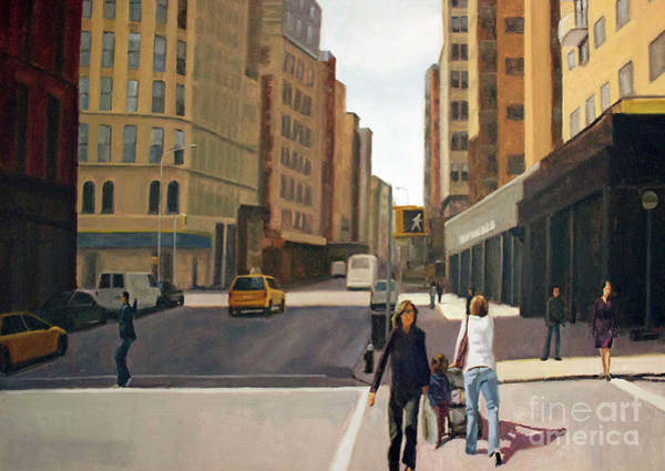 Wall Art - Painting - Walking The Lines by Tate Hamilton