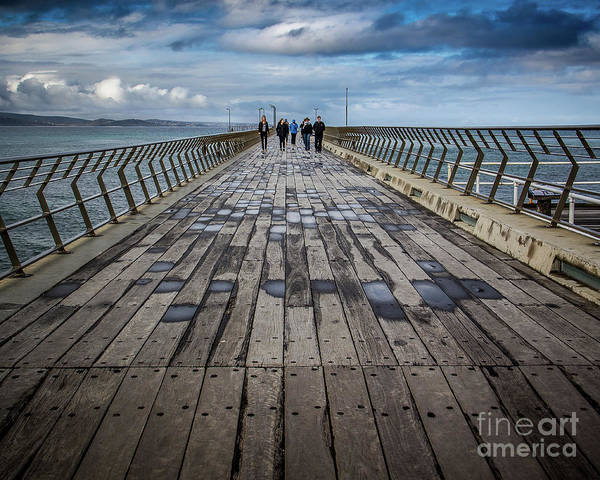 Wall Art - Photograph - Walking The Pier by Perry Webster