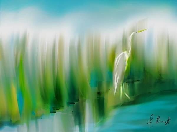Sawgrass Digital Art - Walking The Pond by Frank Bright