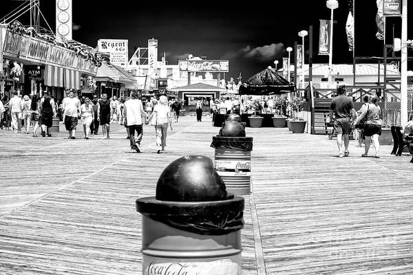 Down The Shore Photograph - Walking The Seaside Heights Boardwalk 2006 by John Rizzuto