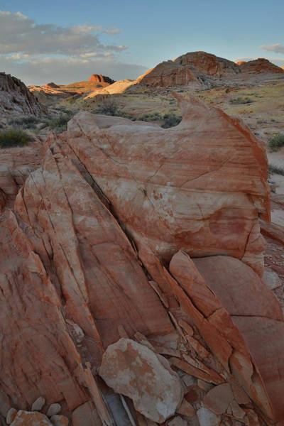 Photograph - Walking Up Canyon At Sunset In Valley Of Fire by Ray Mathis