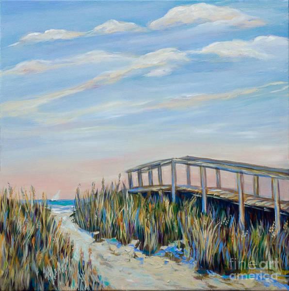 Walkway By Pier Art Print