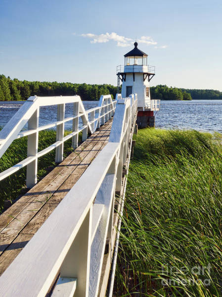 Photograph - Walkway To Doubling Point Light, Arrowsic, Maine #40056 by John Bald
