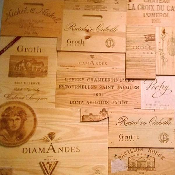 Wine Wall Art - Photograph - Wall Decorated With Used Wine Crates by Shari Warren