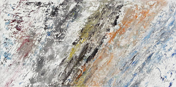Rock Texture Painting - Painted Wall by Kathleen Wong