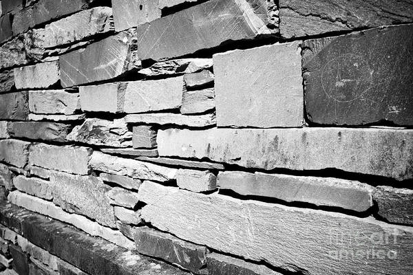 Wall Art - Photograph - wall of building built of slate lakeland stone construction Ambleside lake district cumbria england  by Joe Fox