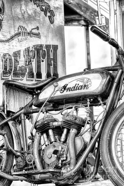 Photograph - Wall Of Death Monochrome by Tim Gainey