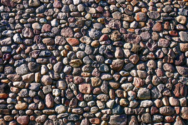 Folk Rock Photograph - Wall Of Many Different Rocks And Stones by Todd Klassy