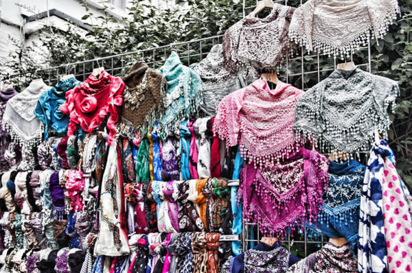 Photograph - Wall Of Scarves by Sharon Popek