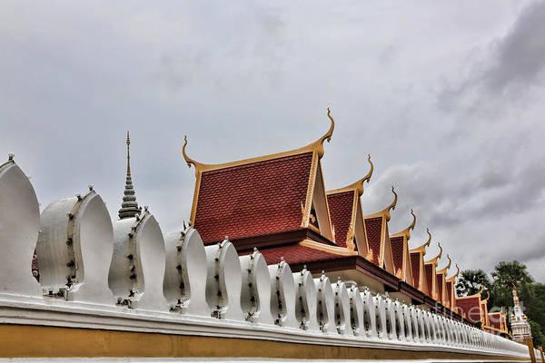 Phnom Penh Wall Art - Photograph - Wall Royal Palace by Chuck Kuhn