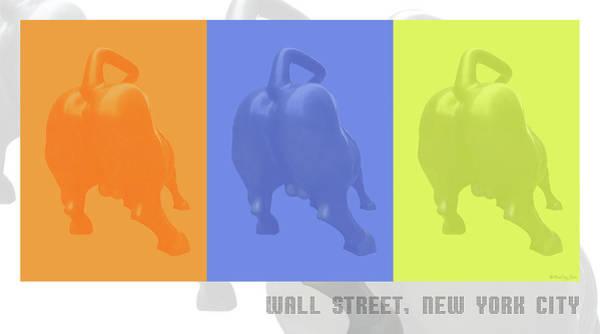 Digital Art - Wall Street Bull by Xueling Zou
