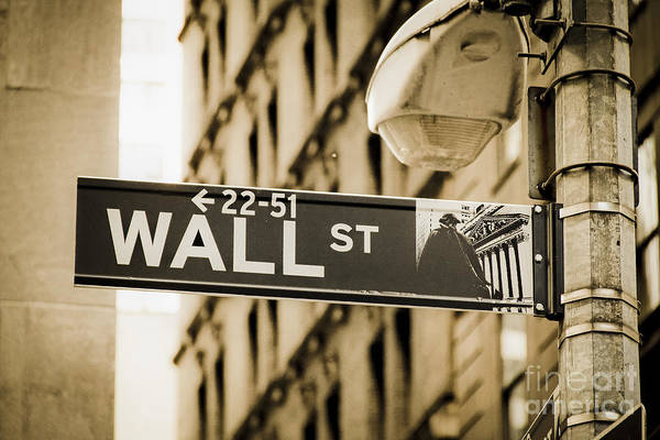 Photograph - Wall Street by Juergen Held