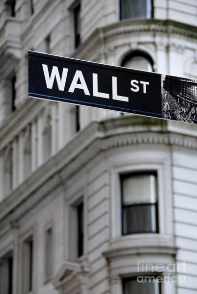 Financial District Photograph - Wall Street New York City Financial District by Amy Cicconi