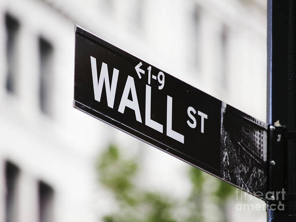 Wall Art - Photograph - Wall Street Sign by Jeremy Woodhouse