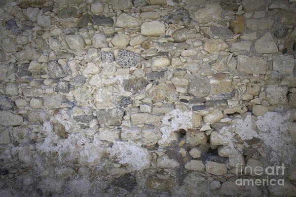 Stone Age Wall Art - Photograph - Wall Surface At Kales Fort In Lerapetra by Antony McAulay