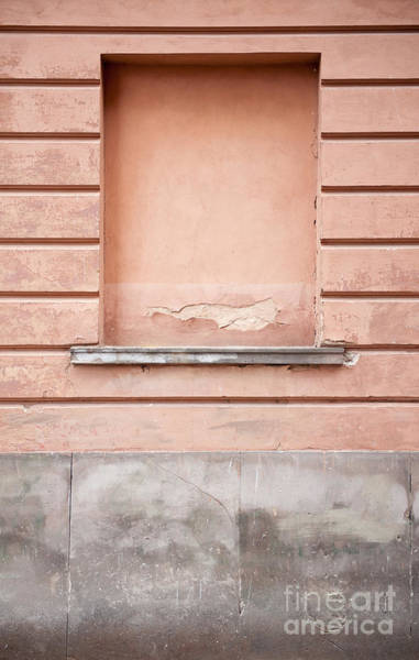 Wall Art - Photograph - wall up blank false window in Old Town Warsaw by Arletta Cwalina