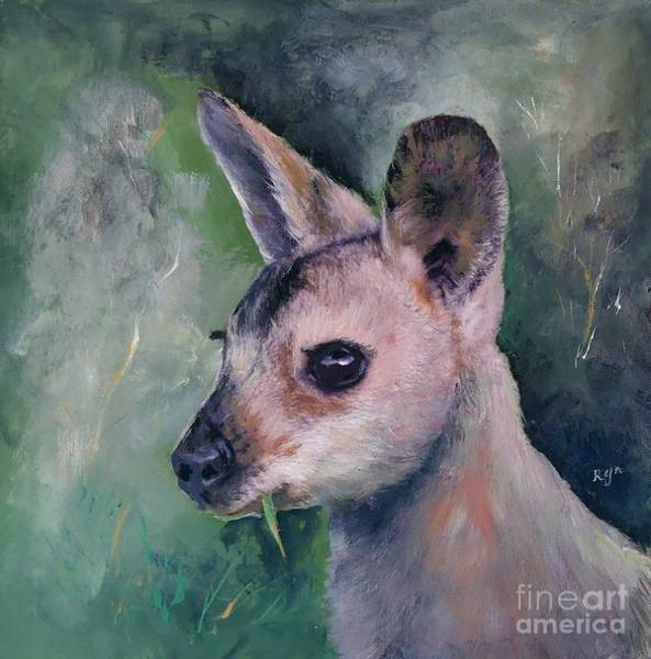 Painting - Wallaby Grazing by Ryn Shell