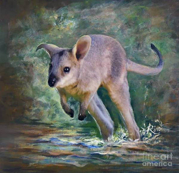 Painting - Wallaby Hop by Ryn Shell